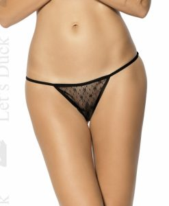 Poze produs Chilot tanga sexy Slip Close LD82 negru + CD Sensual Chill Lenjerie sexy LETS DUCK